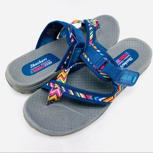 Skechers Reggae Sport Sandals Comfort Shoes Size 8